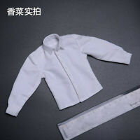 1/6 Scale Men's White Business Casual Shirt Clothes Fit 12'' Action Figure Toy