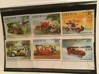 Liberia vintage cars cancelled stamps R21817