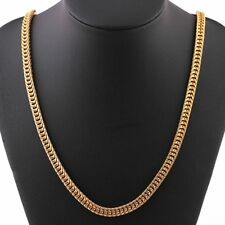 9 k Real  Gold Filled Mens , Unisex Chain Deluxe Perfect Look 52cm 6mm .