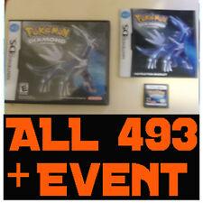 Pokemon Diamond - All 493 Pokemon + LEGIT EVENTS TRU ARCEUS MEW UNLOCKED