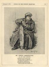 VINTAGE PRINT: MARK HAMBOURG - RUSSIAN-BRITISH PIANIST - 1927 PUNCH MAGAZINE