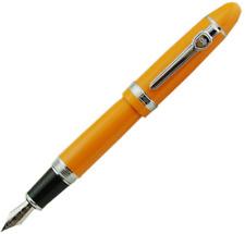 Lanxivi Jinhao 159 Fountain Pen Orange Color Silver Trim Big Heavy with Pen Pouc