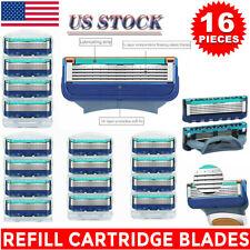 New 16PCS for Men Gillette FUSION Proglide Power Razor Shaver Blades 5-Layer US