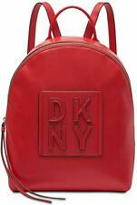 DKNY Tilly Stacked Logo Backpack In Red NWT MSRP $168