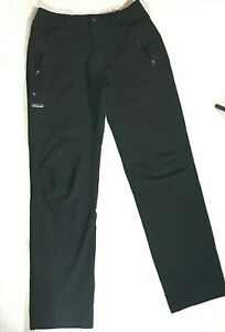 Patagonia Soft Shell Stretch Black Climbing Hiking Nylon Blend Pants Mens sz M