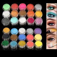 Shimmer Glitter Eye Shadow Powder Palette Matte Eyeshadow Cosmetic Tool US Ship