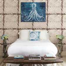 Fine Décor - Reclaimed Tin Ceiling Beige Distressed Tiles Wallpaper - FD22332