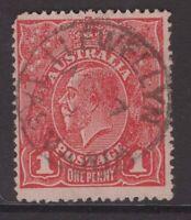 Tasmania LLEWELLYN postmark type 1 on KGV rated S by Hardinge