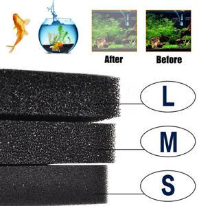 Aquatic Bio Sponge Filter Media Pad Cut-to-fit Foam Aquarium Fish Tank Koi Pond