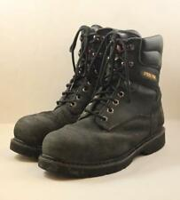 Dickies Steel Toe Waterproof Leather Work Boots Brawn Mens Size 9