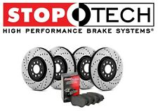 For Mini Cooper Stoptech Street Drilled Slotted Front Rear Brake Rotors Pads Kit