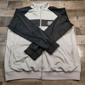 Everlast Mens Size XXL Color Block Full Zip Long Sleeves Activewear Grey Jacket