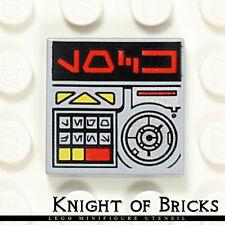 Lego Minifigure LIGHT GRAY Aurebesh Lock Alien Characters Key Computer Tile 2x2