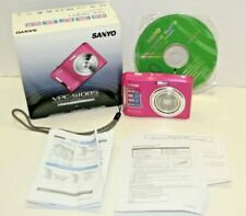 Sanyo VPC- S1085 10.0MP Pink Digital Camera Point & Shoot 10 MP Tested S1085P