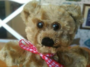 Antique Vintage mohair Character Novelty Teddy Bear Norwalk Connecticut 7in GUC