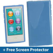Bleu Brillant TPU Gel Case pour Nouveau Apple iPod Nano 7ème Génération 7G Couverture Shell