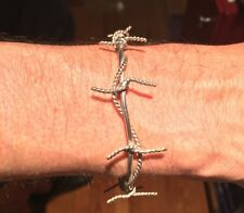 Bracelet, Sterling Silver, Barbed Wire Bracelet, Goth, Punk, Steampunk, #Sale