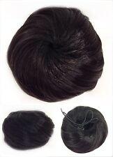 Hair Piece, Hair Bun With Elastic, Soft Hair Bun, Black, Jet Black 1#.
