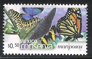 pc050 Mexico Conserva MNH paper 3 Sc#2452 Mc#3204 Et#mc050 butterflies