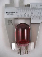 1 X NEW LARGE CAPLESS ALL GLASS RED BULB STOP AND TAIL12v 21/5w 380C 580C
