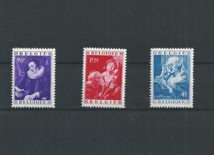 "Postage Stamps Belgium  1949 - 792/794 Painter ""Jacob Jordaens"" MNH**"