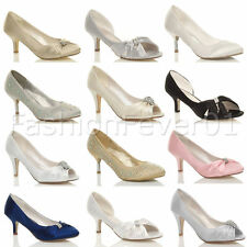 Unbranded Mid Heel (1.5-3 in.) Textile Upper Shoes for Women