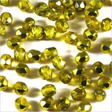 Facettes de Bohème 4mm Or Jaune Lot de 50 perles