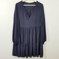 DECJUBA | Womens Long Sleeves Navy BabyDoll Dress [ Size AU 12 or US 8 ]