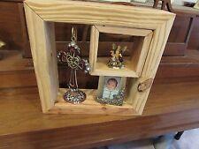 Handmade Reclaimed Wood Shadow Box Wall Shelf Floating Handmade Double Box
