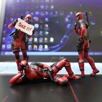 Deadpool Action Figure Desk Model Doll New Marvel PVC Statue X-Men Superhero 8cm