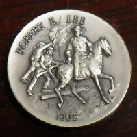 Robert E Lee Sterling Silver Medal by Longines Symphonette 35.1 Grams