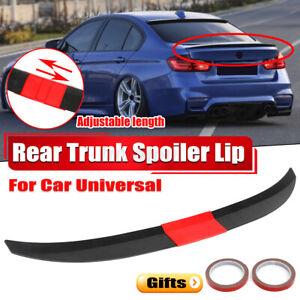 Adjustable Rear Trunk Spoiler Lip Wing Painted Black For Car Sedan Universal