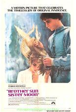 BROTHER SUN SISTER MOON MOVIE POSTER Original 27x41 FRANCO ZEFFIRELLI 1972 Film