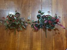 Lot of 2 Artificial Greenery Ivy Plants Leaves Decor Crafts EUC