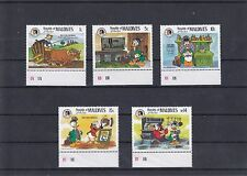 TIMBRE STAMP 5 MALDIVES Y&T#1041-44 DISNEY DONALD  NEUF**/MNH-MINT 1985 ~A26