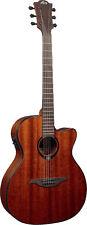 LAG Tramontane T90ACE Auditorium Cutaway Electro Acoustic Guitar  Khaya Mahogany