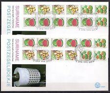 Suriname - 1980 Fruits booklets - Mi. H-Blatt 7-8 Clean unaddressed FDC!