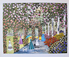 Jane Wooster Scott DOWN THE GARDEN PATH Hand Signed Limited Edition Lithograph