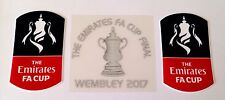 Arsenale Emirates FA CUP FINALE WEMBLEY 2017 BADGE UFFICIALE LOGO Patch & MDT Set