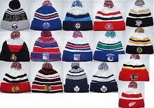 New NHL KNIT Hockey Winter authentic Cap cuff Beanie with Pom Man