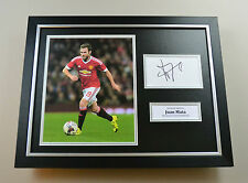 Juan Mata Signed Photo Framed 16x12 Manchester United Autograph Display + COA