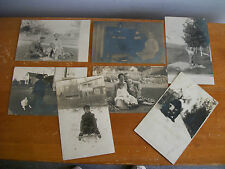 Lot of 7 Early 1900s GEORGE F ARPS FAMILY, Ohio & Illinois, RPPC