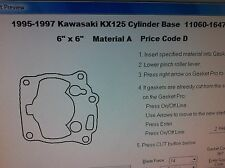 Kawasaki KX125  Cylinder base Gasket 1995 1996 1997