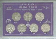 La SECONDA GUERRA MONDIALE ANNI FIORINI della seconda guerra mondiale II 1939-1945 FIORINO CON MONTANTE Coin Set Regalo
