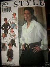 Ms Style Pattern 2379 UNCUT Blouses 5 Lovely Options Size 8 10 12 14 16 18