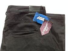 No Fear Classic Straight Leg Black Jeans 38R Jet Black Denim w/ Black Stitching