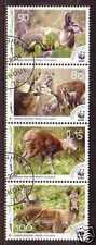 Deers WWF Animals Afghan 4 stamps 2004