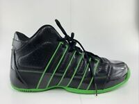Adidas G21697 Mens Size 13 Basketball Shoes High Tops Black and Green