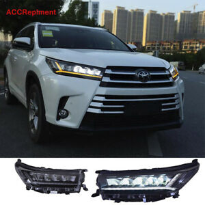New For Toyota Highlander Headlights assembly 2017-2019 All LED Low / High Beam