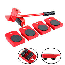 5Pcs Furniture Mover Lifter Easy Slides Transport Lifting Heavy Duty Tool Set